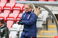 Reading Head Coach Kelly Chambers during the FA Women's Super League match between Manchester United Women and Reading LFC at Leigh Sports Village, Leigh, United Kingdom on 7 February 2021.