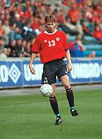 Christer Basma, Norge. Norge - Armenia 1-1. Herrelandslaget 2000. VM-kvalifisering 2002. 2. september 2000. (Foto: Peter Tubaas/Fortuna Media)
