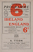 Rugby 1953-14/02 Five Nations Ireland Vs England