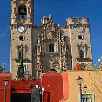 Americas, Mexico, La Valenica. The Temple of La Valencia, also known as San Cayetano, in the mining village near Guanajuato. A UNESCO World Heritage Site.