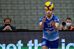 Hossein Ghanbari of Lycurgus in action during the second final league match between Amysoft Lycurgus vs. Draisma Dynamo on April 24, 2021 in Groningen.