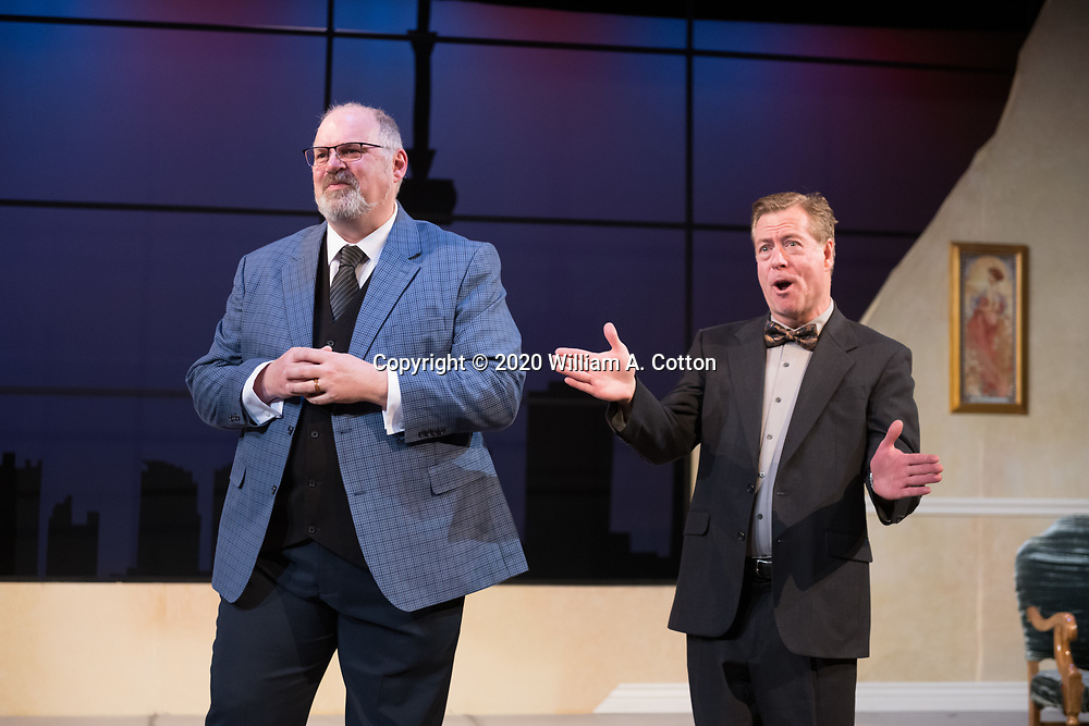 """The Bas Bleu Theatre Company rehearses its production of """"The Best Brothers,"""" January 22, 2020."""