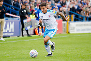 Crawley Town forward Reece Grego-Cox in action  during the EFL Sky Bet League 2 match between Macclesfield Town and Crawley Town at Moss Rose, Macclesfield, United Kingdom on 7 September 2019.
