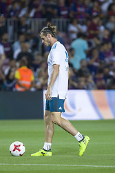 August 13, 2017 - Barcelona, Spain - Gareth Bale during the match between FC Barcelona - Real Madrid, for the first leg of the Spanish Supercup, held at Camp Nou Stadium on 13th August 2017 in Barcelona, Spain. (Credit: Urbanandsport / NurPhoto) (Credit Image: © Urbanandsport/NurPhoto via ZUMA Press)