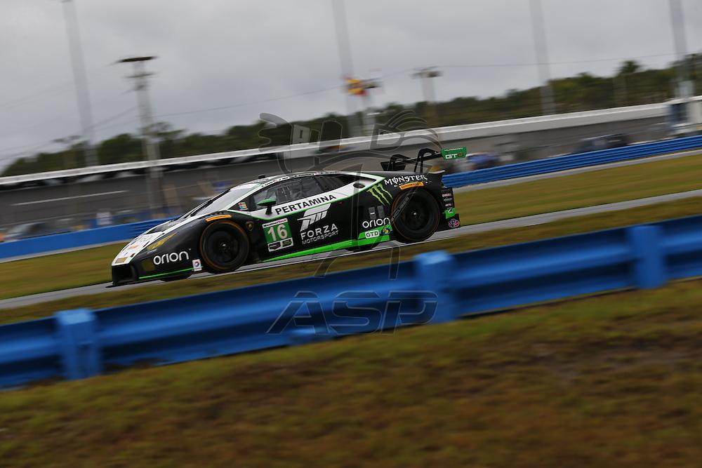 January 07, 2017 - Daytona Beach, Florida, USA: The IMSA WeatherTech SportsCar Championship Series takes to the track to practice for the Roar Before The Rolex 24 at Daytona International Speedway in Daytona Beach, Florida.