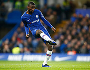 Chelsea's Antonio Rudiger in action during the English FA Cup fifth round soccer match between Chelsea and Liverpool at Stanford Bridge Stadium, Wednesday, March 3, 2020, in London, United Kingdom. (ESPA-Images/Image of Sport)