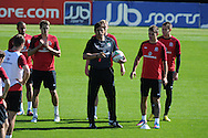 Wales manager Chris Coleman makes a point .Wales football players training at the Vale, in Cardiff on Wed 5th Sept 2012, ahead of their forthcoming World cup qualifier against Belgium on Friday 8th Sept.  pic by  Andrew Orchard, Andrew Orchard sports photography,