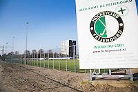 ROTTERDAM ZUID - lidmaatschap . jonge hockeyclub met nieuw veld, tegen de skyline van Rotterdam Zuid., Hockeyclub Feijenoord. COPYRIGHT KOEN SUYK