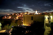 Night view of Capoliveri on Elba island