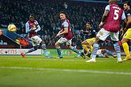 Nathanael Clyne of Southampton levels scores the score at 1-1 - Football - Barclays Premier League - Aston Villa vs Southampton - Villa Park Birmingham  - Season 2014/2015 - 24th November 2015 - Photo Malcolm Couzens /Sportimage