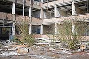 Deindustrialisation and dereliction of industrial buildings at Brantham, Suffolk, England