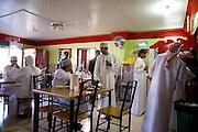 Nizwa, Sultanate of Oman. .February 1st 2009..In a restaurant.