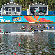 Chris Harris and John Storey New Zealand Mens Double Scull<br /> <br /> Semi-Finals races at the World Championships, Sarasota, Florida, USA Friday 29 September 2017. Copyright photo © Steve McArthur / Rowing NZ