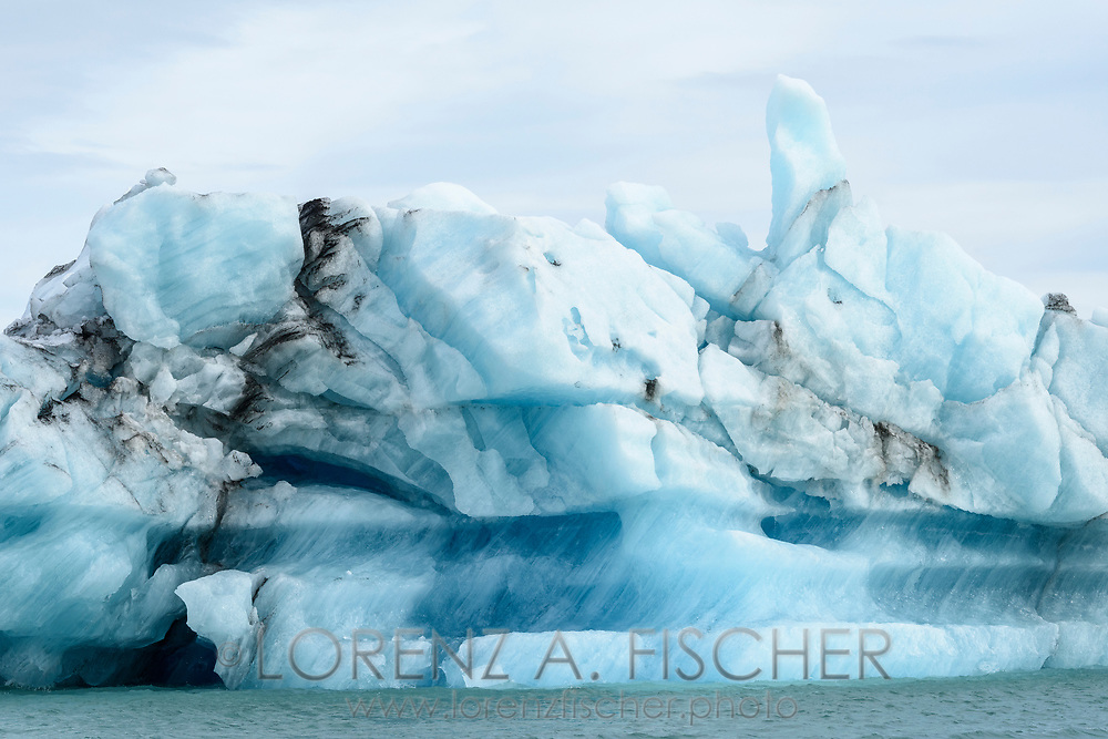 Icebergs on the glacier lagoon Jökulsarlon in the south of Iceland