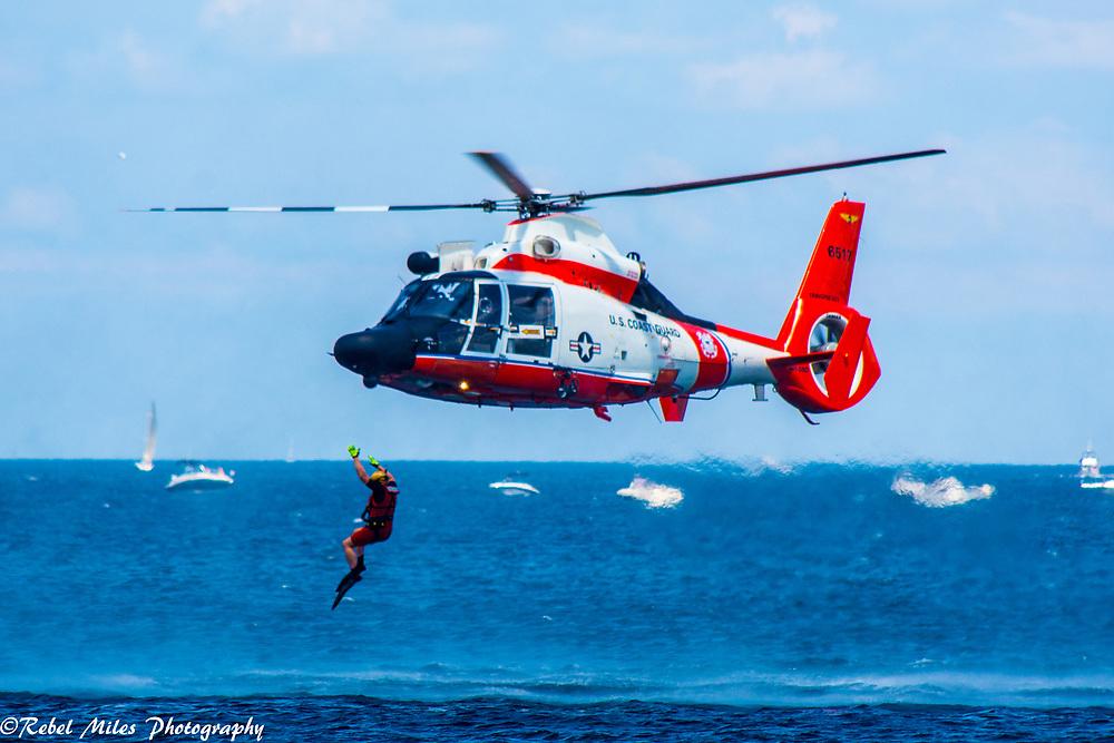 US Coast Guard Demonstrating Water Rescue Skills