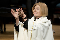 February 4, 2018 - Toronto, Ontario, Canada - TORONTO, ONTARIO- FEBRUARY 04, 2018:.Former NDP MPP Cheri DiNovo thanked the crowd at her Covenanting Service at the Trinity-St. Paul's Centre for Faith, Justice and the Arts..LUCAS OLENIUK-TORONTO STAR Lucas Oleniuk/Toronto Star (Credit Image: © Lucas Oleniuk/The Toronto Star via ZUMA Wire)