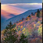Sun rays on the Smokies, Great Smoky Mountains National Park. 4x5 Kodak Ektar 100. photo by Nathan Lambrecht