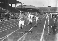 H909<br /> Aonach Tailteann Athletics - Croke Park. McCachem wins race. 1928. (Part of the Independent Newspapers Ireland/NLI Collection)