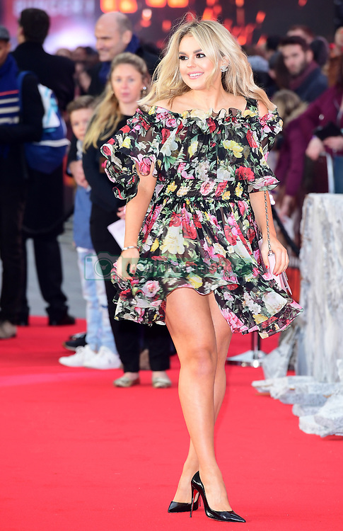 Tallia Storm attending the European premiere of Rampage, held at the Cineworld in Leicester Square, London. Picture date: Wednesday April 11, 2018. See PA story SHOWBIZ Rampage. Photo credit should read: Ian West/PA Wire