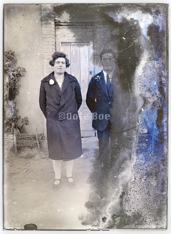 couple on a severely eroding glass plate