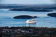 Cruise ship, Bar Harbor, Maine, USA