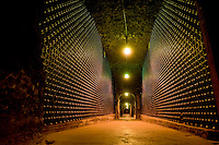 Schramsberg Winery and wine cave in Calistoga, California, Thursday March 18, 2010..Photo Brian Baer
