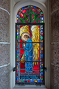 """Window 9 on plan. 13.5""""w x 36.75 h to inside of frame.<br /> <br /> Saint Mary's by-the-Sea, Northeast Harbor, Maine."""