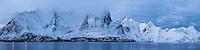 Winter view of Reine area, Moskenesøy, Lofoten Islands, Norway