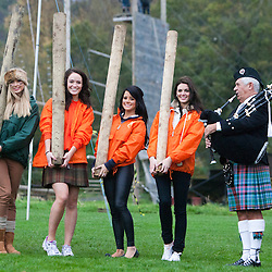 The Miss World 2011 contestants take part in Highland Games, Crieff Hydro Hotel