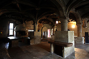 The kitchen of the Convent of Jesus Christ at Tomar in the Center of Portugal. Started to be built in the 12 th Century by the Poor Knights of Jesus Christ (the Templars), with strong influence from Jerusalem's religious buildings from the time of Crusades, as the Temple of the Rock.Paulo Cunha/4see