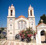 Greek orthodox church of Agios Pandeliemon, Siana, Rhodes, Greece