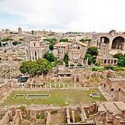 ROME, Italy - The historic ruins of the Foro Romano in Rome, Italy.