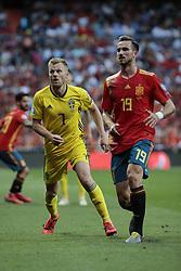 Spain national team player Fabian Ruiz and Sweden national team player Sebastian Larsson during UEFA EURO 2020 Qualifier match between Spain and Sweden at Santiago Bernabeu Stadium in Madrid, Spain. June 10, 2019. Photo by A. Perez Meca/Alterphotos/ABACAPRESS.COM