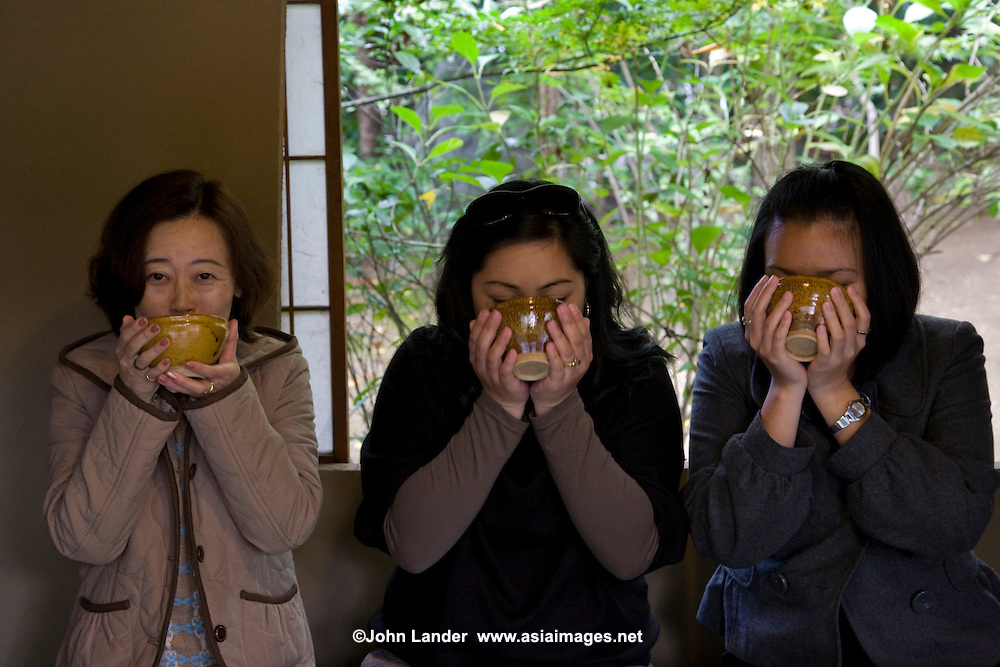 Drinking Tea - Japanese green tea, or ocha is the most common drink in Japan.  Not only is it loaded with vitamin C and caffeine but its antioxidant and healthy properties are making this drink a hit all around the world.