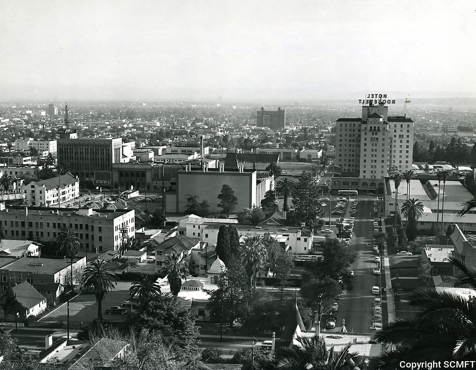 1955 Looking south from the hills just above Franklin Ave. & Orange Dr.
