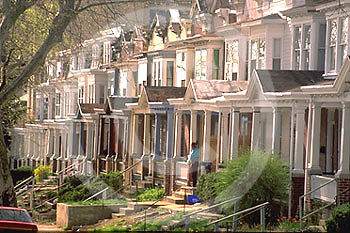 Harrisburg, PA, Semi-Detached City Houses, Cityscapes, Street Scapes