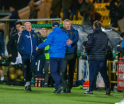 Livingston manager Gary Holt and Raith Rovers manager John McGlynn at the end. Livingston 3 v 1 Raith Rovers, William Hill Scottish Cup played 18/1/2020 at the Livingston home ground, Tony Macaroni Arena.