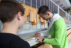 Saso Bertoncelj signing autographs during Qualifications of Artistic Gymnastics FIG World Challenge Koper 2018, on May 31, 2017 in Arena Bonifika, Koper, Slovenia. Photo by Matic Klansek Velej/ Sportida