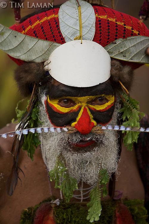 Western Highlands Province man.  Mount Hagen, Western Highlands Province, Papua New Guinea.