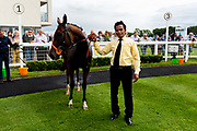 Three Little Birds ridden by Williams Carver and trained by Sylvester Kirk in the Best Free Tips At Valuerater.Co.Uk Handicap (Bath Summer Sprint Series Qualifier)(Class 6) race. - Ryan Hiscott/JMP - 07/08/2019 - PR - Bath Racecourse - Bath, England - Race Meeting at Bath Racecourse