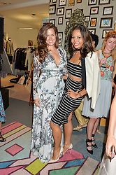 Left to right, ROSE THOMAS and VISCOUNTESS WEYMOUTH at the launch of Matthew Williamson's 'Sea to Shore' range for The Outnet.com held at the Matthew Williamson's showroom, Studio 10-11, 135 Salusbury Road, London NW6 on 5th May 2016
