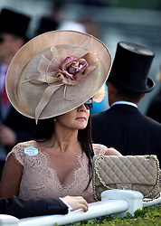 A Racegoer trackside during day four of Royal Ascot at Ascot Racecourse.