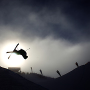 Kentaro Tsuda, Japan, in action during the Freeski Halfpipe event at the Winter Games at Cardrona, Wanaka, New Zealand. 17th August 2011. Photo Tim Clayton...