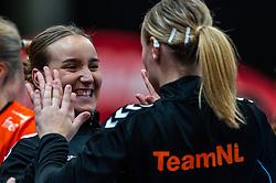Nikita van der Vliet of Netherlands in action during the Women's EHF Euro 2020 match between Netherlands and Germany at Sydbank Arena on december 14, 2020 in Kolding, Denmark (Photo by RHF Agency/Ronald Hoogendoorn)