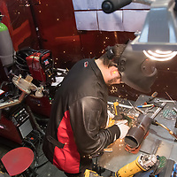 Participant competes in metal working during the EuroSkills European Championship of young professionals in Budapest, Hungary on Sept. 26, 2018. ATTILA VOLGYI