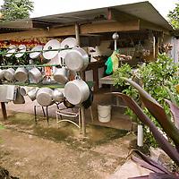 Huahine, French Polynesia, Outdoor kitchen