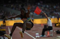 August 5, 2017 - London, England, United Kingdom - Tamara MYERS, Bahamas, at triple jump preliminary heat at London Stadium in London on August 5, 2017 at the 2017 IAAF World Championships athletics. (Credit Image: © Ulrik Pedersen/NurPhoto via ZUMA Press)