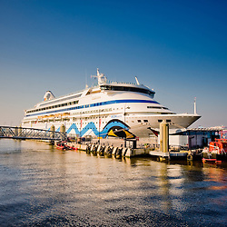 German cruise ship docked at the cruise liner terminal in Liverpool.