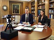 051220 Spanish Royals working at Zarzuela Palace