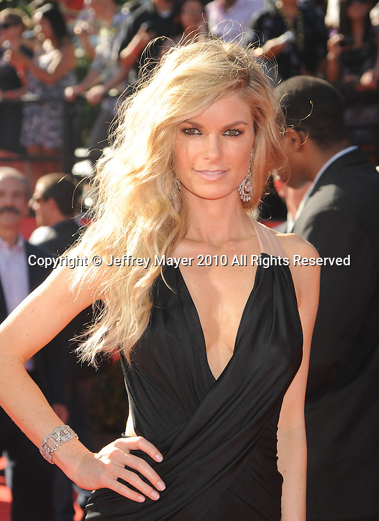 LOS ANGELES, CA. - July 14: Model Marisa Miller arrives at the 2010 ESPY Awards at Nokia Theatre L.A. Live on July 14, 2010 in Los Angeles, California.
